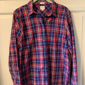 J.Crew Women's woven plaid blouse